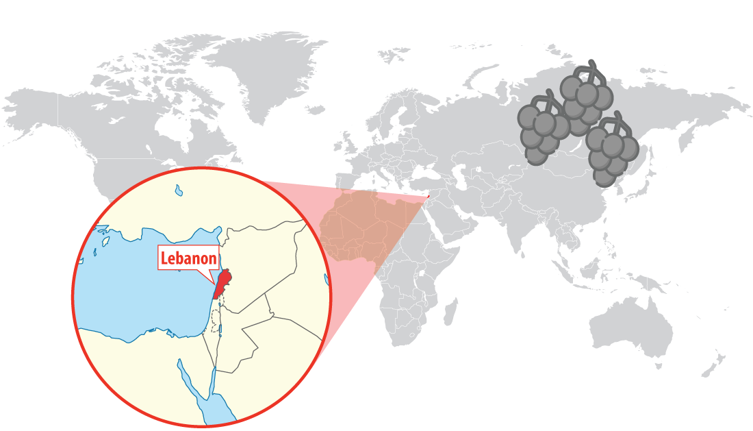 Location of Lebanon