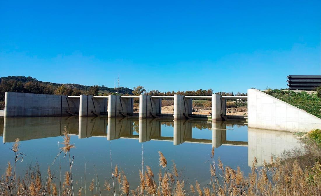 """El Portal"" irrigation dam at Jerez de la Frontera, Spain"