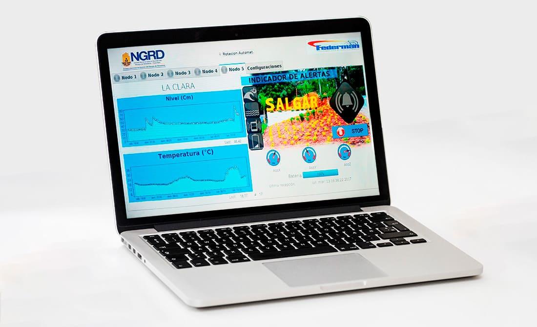Federmán dashboard application at Salgar's decision center