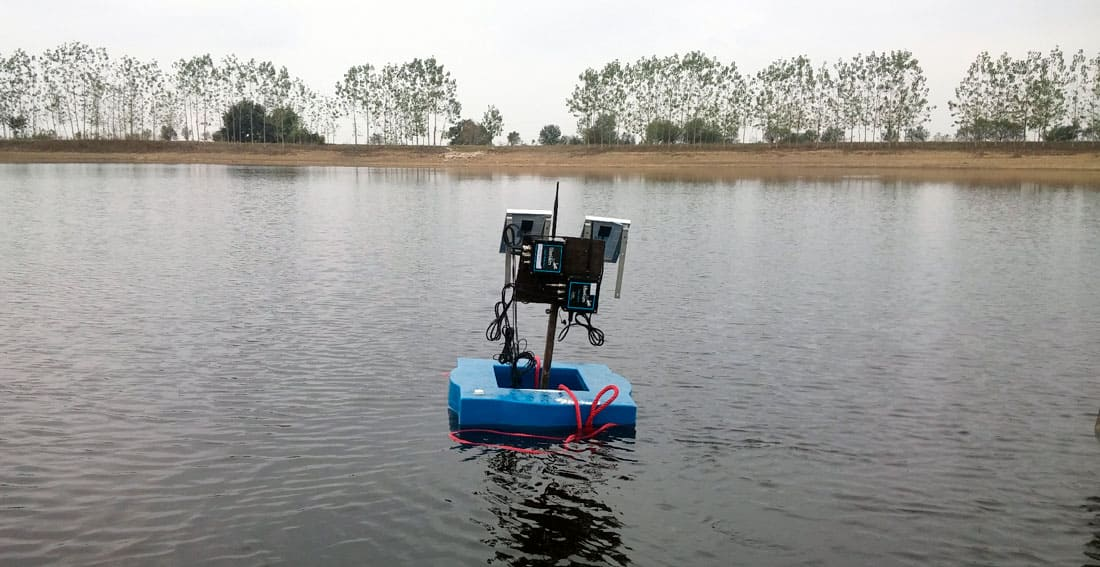 Smart Water Sensor Network installed at fish farm in Iran