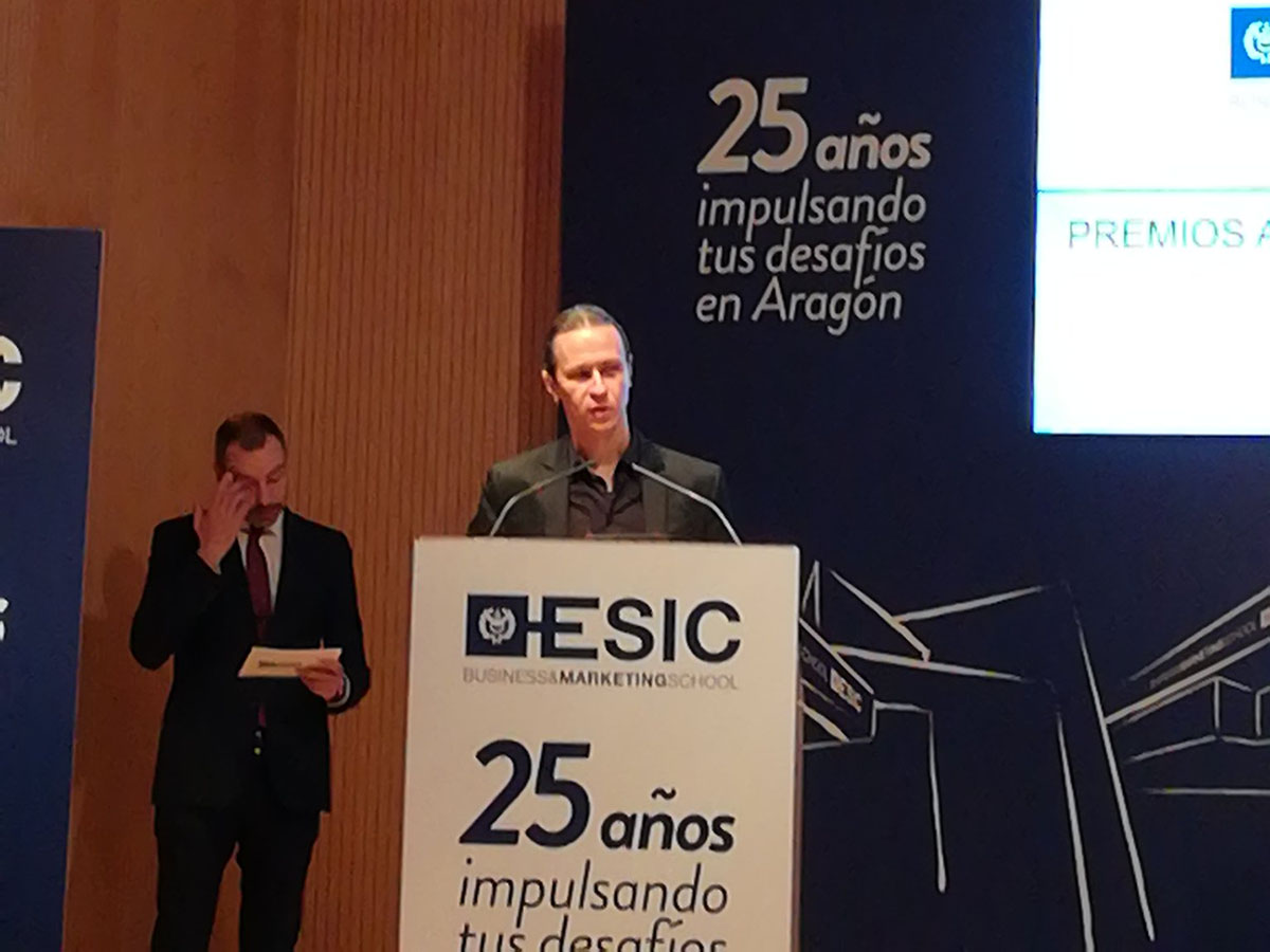 David Gascón, CTO Libelium, speaking at ESIC Anniversary Event