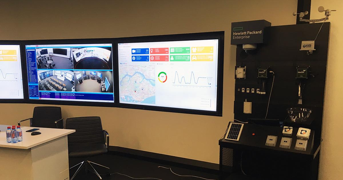 Libelium Wireless Sensor Platform at the HPE Customer Experience Center, Singapore