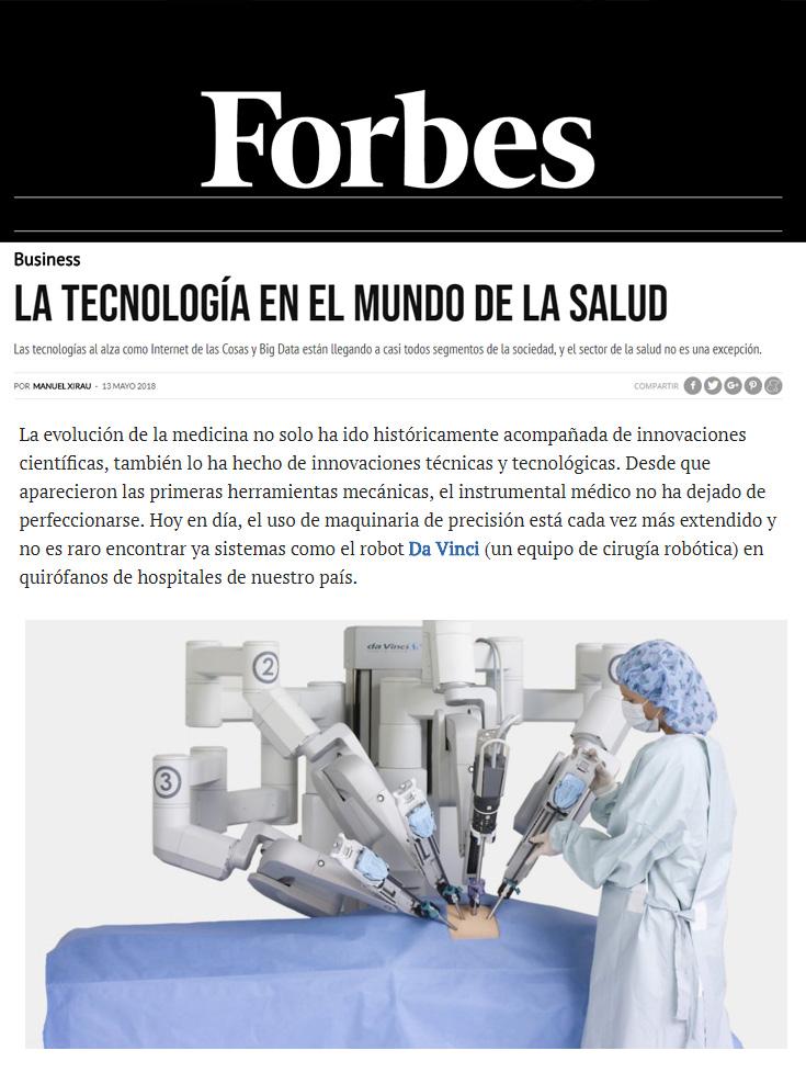 Forbes – La tecnología en el mundo de la salud
