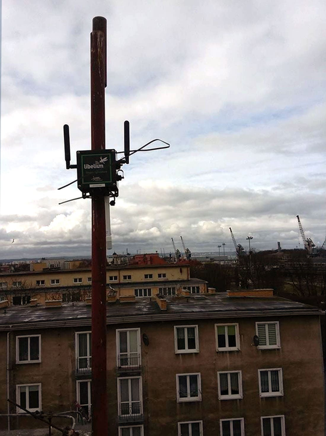 Waspmote Plug & Sense! Smart Cities PRO nodes measure gases concentration and weather conditions at Gdansk Port