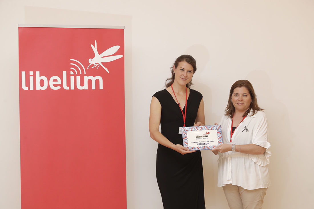 "Regina Andersson (Ericsson) receives the ""Best Case Study Award"""