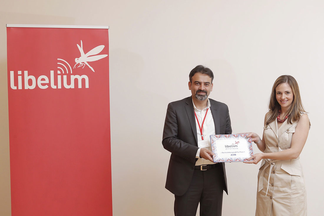 "Mojtaba Mirjafari (ASM) receives the ""Best Interoperability Project Award"""