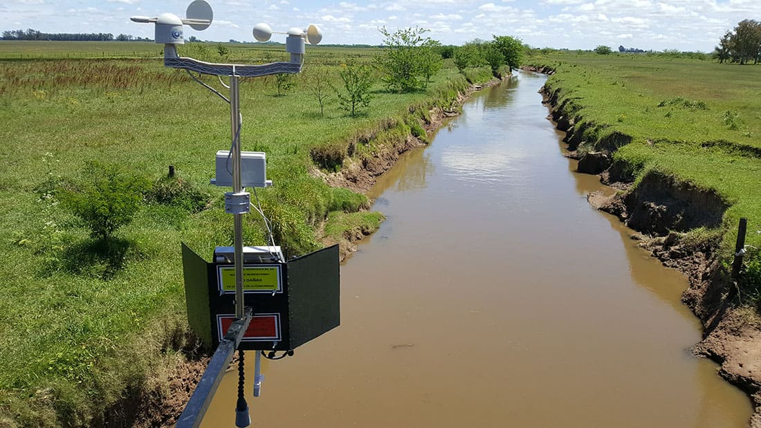 Waspmote Plug & Sense! Smart Agriculture PRO measuring river level and weather parameters