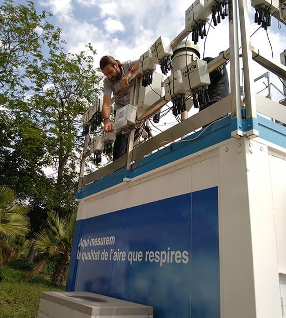 Captor sensor nodes measure ozone and other pollutants