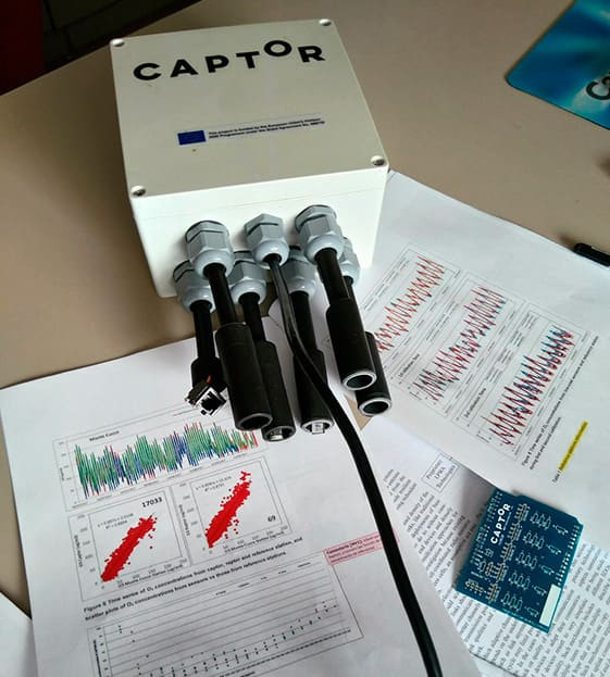 Captor sensor nodes measure ozone and other pollutants