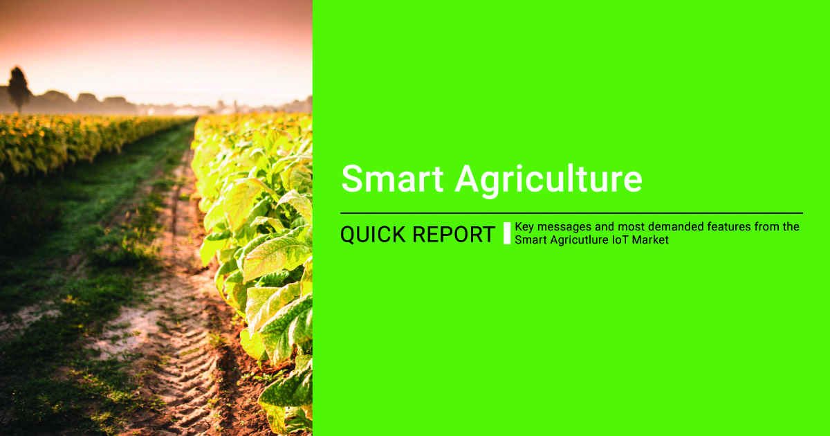 Libelium Smart Agriculture IoT Solution Quick Report