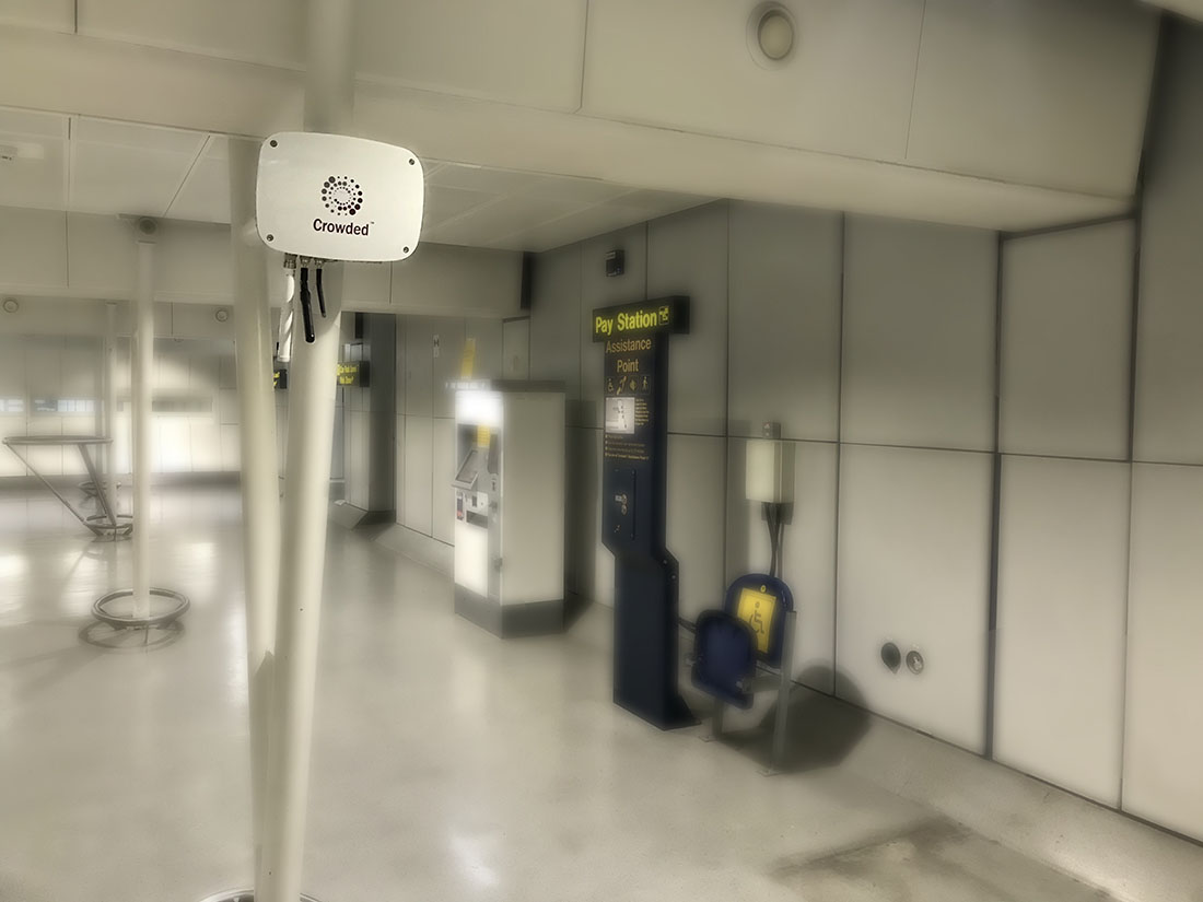 Meshlium Scanner scans WiFi and Bluetooth devices at Manchester Airport