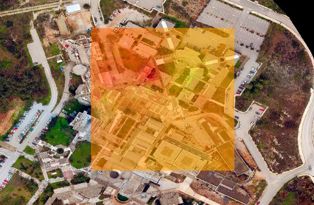 Gases heatmap obtained with the sensorized drone