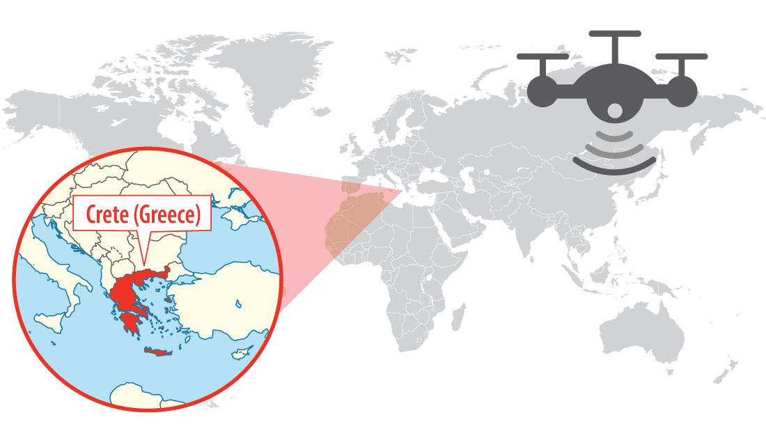 Location of Crete (Greece)