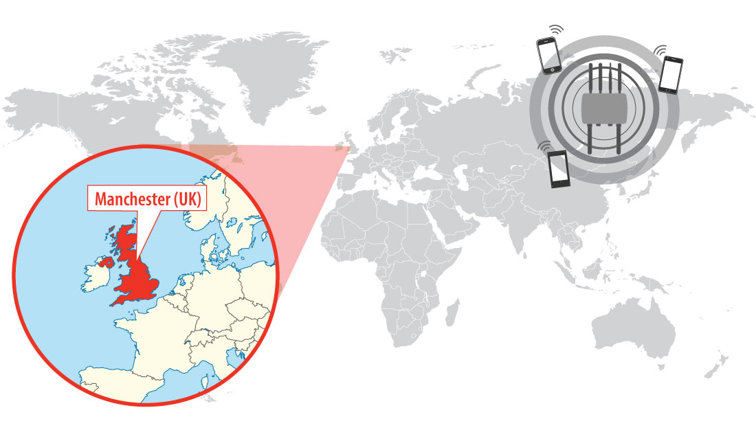 Location of Manchester, United Kingdom