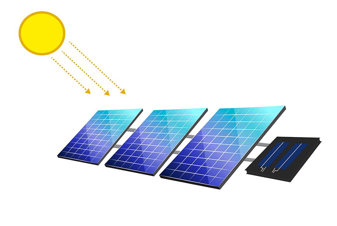 Diagram of a solar power plant with Datasol sensor