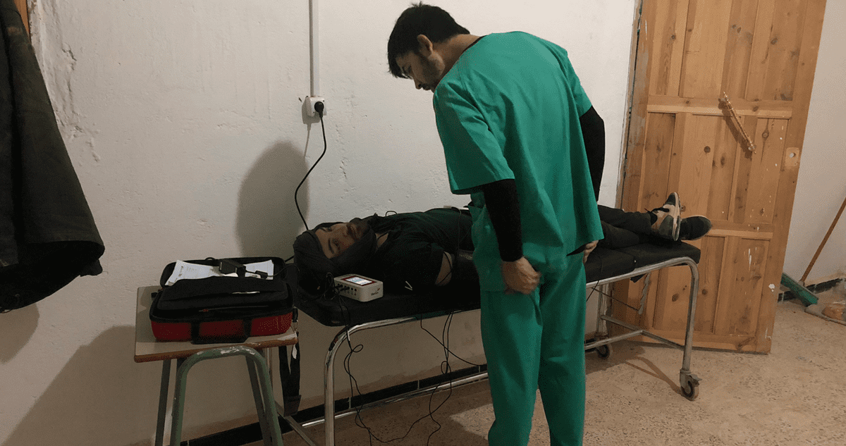 A patient being observed with the MySignals solution