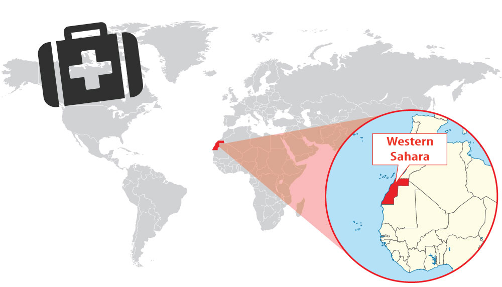 Location of Western Sahara