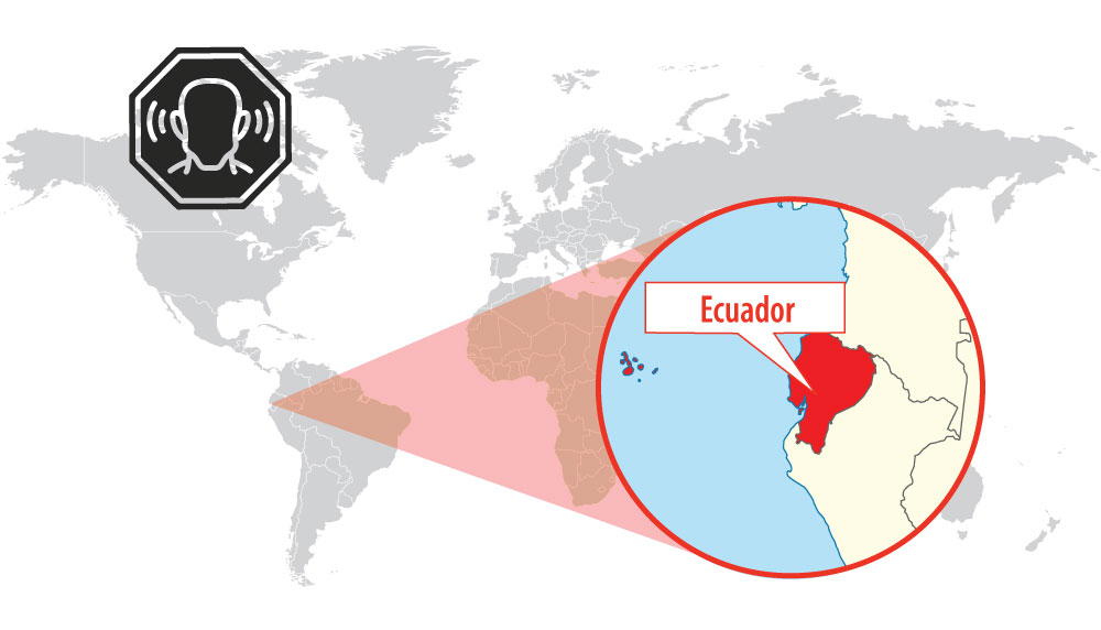 Location of Cuenca (Ecuador)