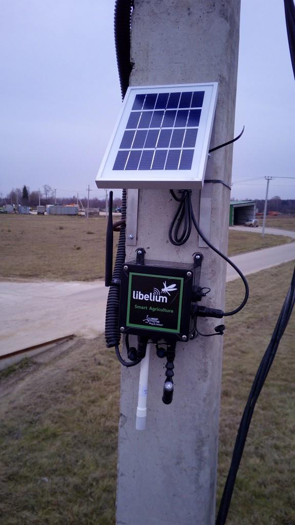 Libelium Plug&Sense! Smart Agriculture installed