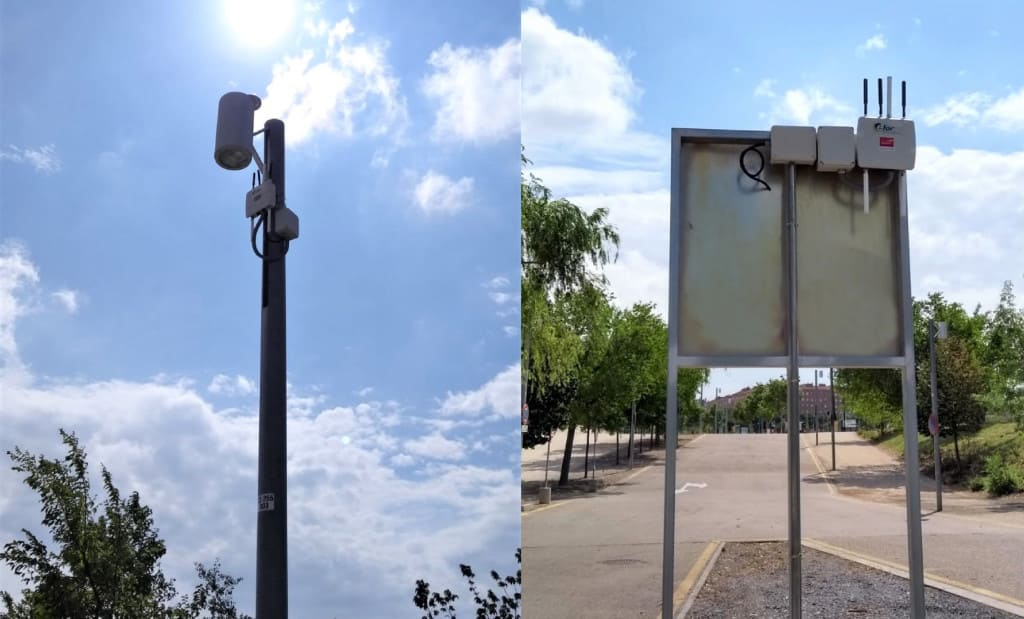 Two Meshlium scanners are installed at the access of the park