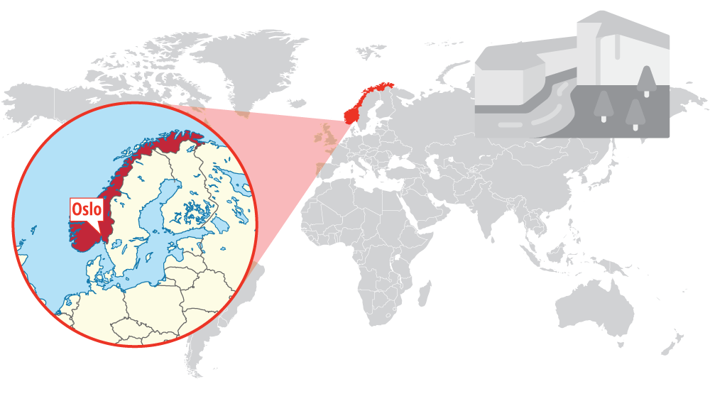 Norway Location of the project