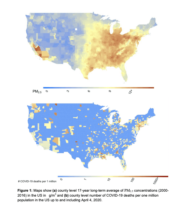 Harvard research Covid19 and air pollution