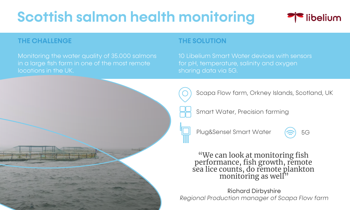 Success story: Salmons sea farm IoT monitoring in a remote area