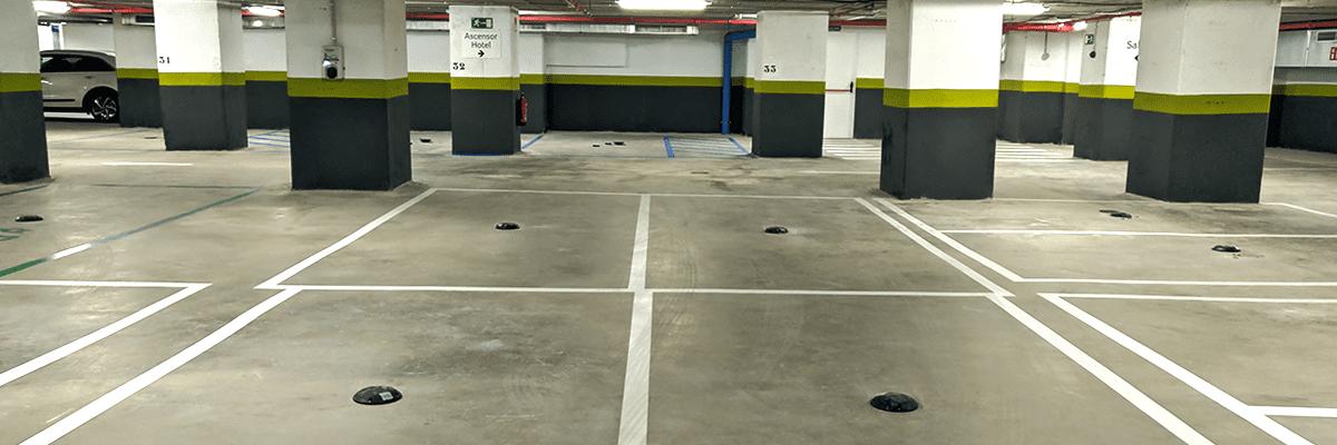 smart parking monitoring Hotel Riu Plaza España Madrid