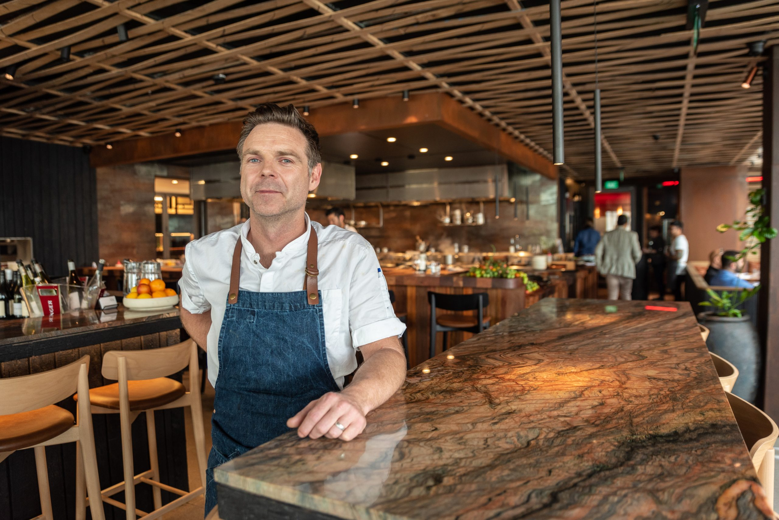 Ben Bayley in his smart restaurant