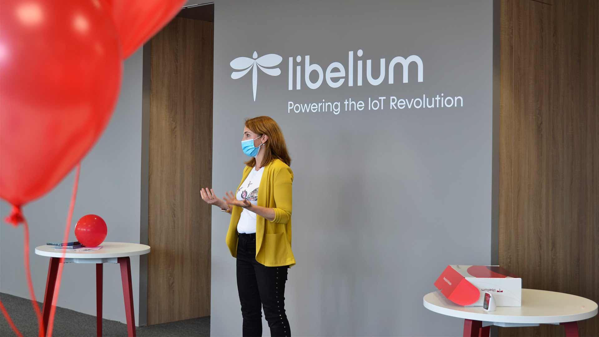 Alicia en las inauguración de Libelium