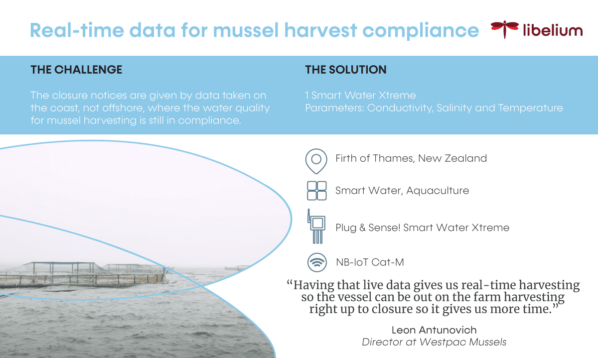 Smart Water Xtreme for New Zealand mussels compliance